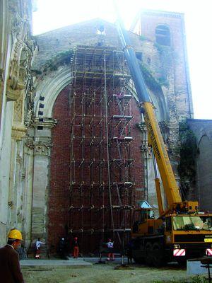 Restauro facciata Chiesa San Giacomo