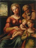 La Sacra Famiglia e Santa Caterina d'Alessandria