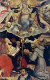 La Vergine assunta in cielo incoronata da due Angeli e i Santi Girolamo e Francesco