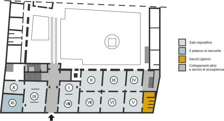 Palazzo Romagnoli mappa piano terra